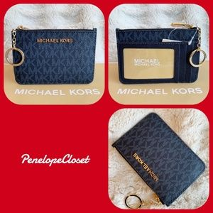 MICHAEL KORS COIN POUCH ID KEY ADMIRAL